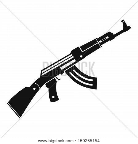 Submachine gun icon in simple style isolated on white background vector illustration