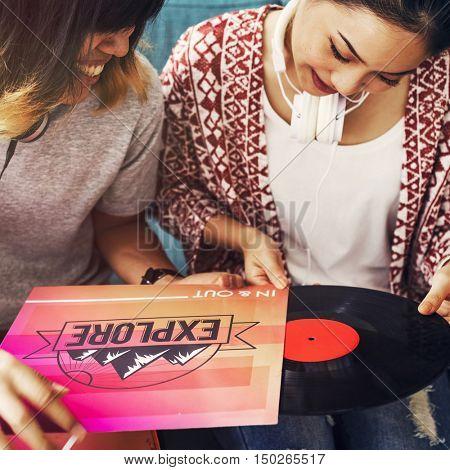 Record Music Disc Audio Media Soundtrack Concept