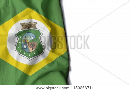 flag of ceara brazilian state wrinkled flag with space for text poster