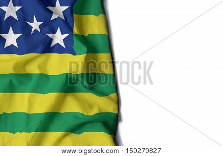 Goias Wrinkled Flag, Space For Text