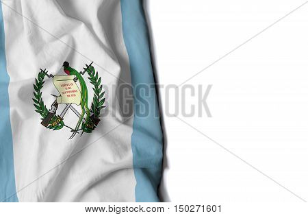Guatemala Wrinkled Flag, Space For Text