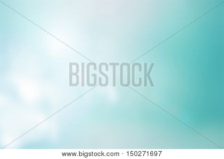 Abstract blurry bokeh background / soft colored abstract background / abstract digital painting for background / bright color background teal
