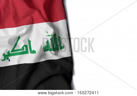 Iraqi Wrinkled Flag, Space For Text