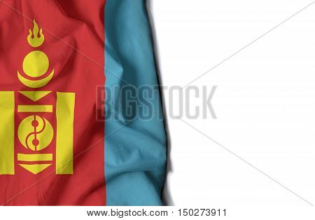 Mongolian Wrinkled Flag, Space For Text