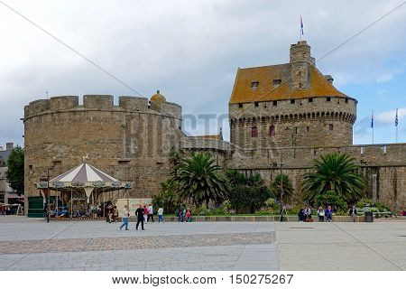 Saint-Malo, France, September 30, 2016: The town hall of Saint-Malo in France.