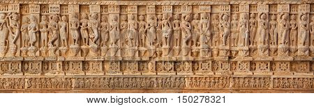 Carving On The Walls Of An Ancient Temple (hindu)