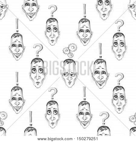 Considering the idea pattern. Head with lamp