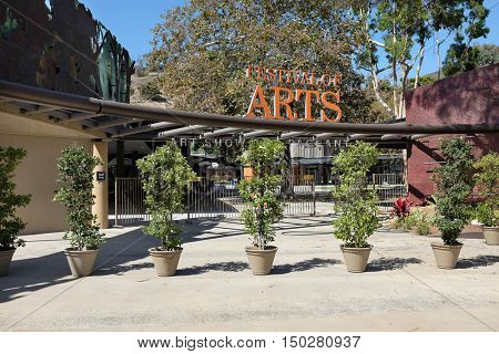 LAGUNA BEACH, CALIFORNIA - OCTOBER 3, 2016: Festival of the Arts. The venue hosts the annual Pageant of the Masters, where live performers pose in recreations of famous painting.