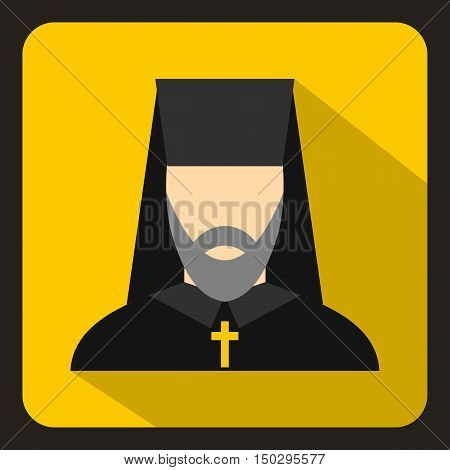 Orthodox priest icon in flat style on a white background vector illustration