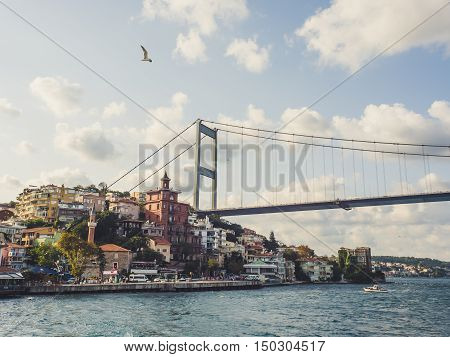ISTANBUL TURKEY- SEPTEMBER 10-13 2016: Fatih Sultan Mehmet and the city in Istanbul.
