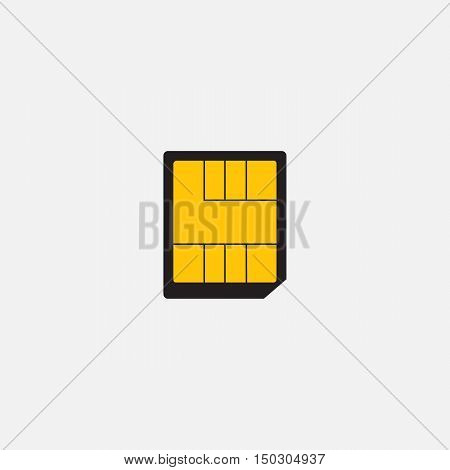 Simple web icon in vector: nano SIM card