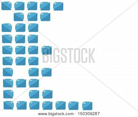 blue bricks background with white space vector