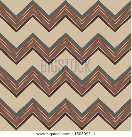 brown retro chevron pattern vector for background