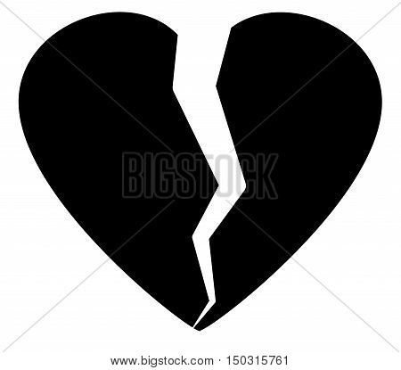 Heartbreak / broken heart or divorce flat icon