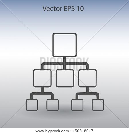 hierarchy vector icon