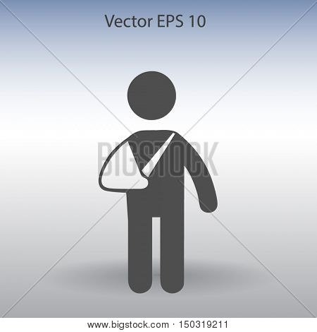 Broken arm vector illustration