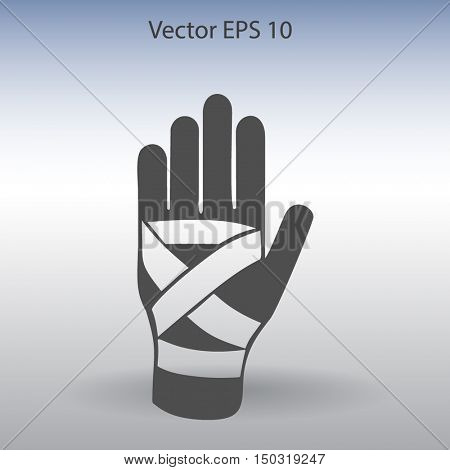Hand bandaging vector illustration
