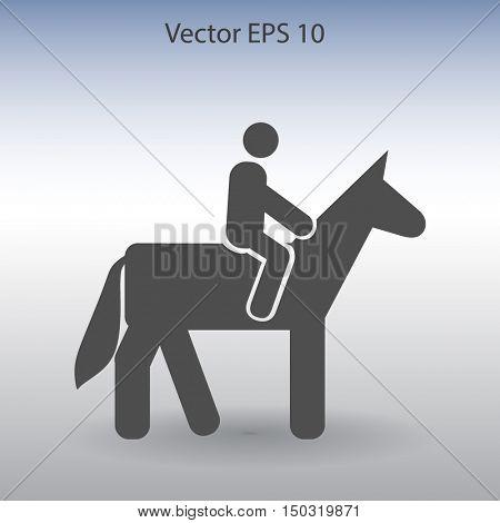 riding horse vector icon