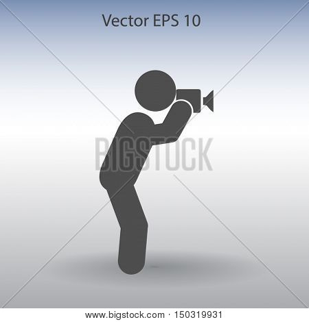 Photographer vector icon