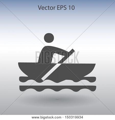 Flat boat icon