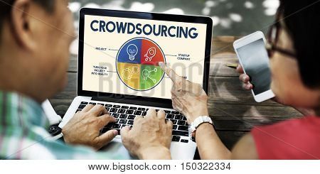 Crowdsourcing People Data Graph Pie Chart Concept