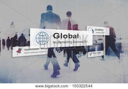 Global Community Communication Worldwide Concept