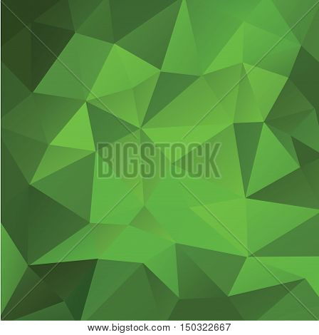 green background low poly for text vector