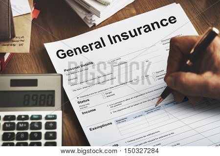 General Insurance Rebate Form Information COncept