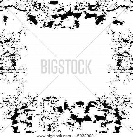 black grunge frame square for background vector