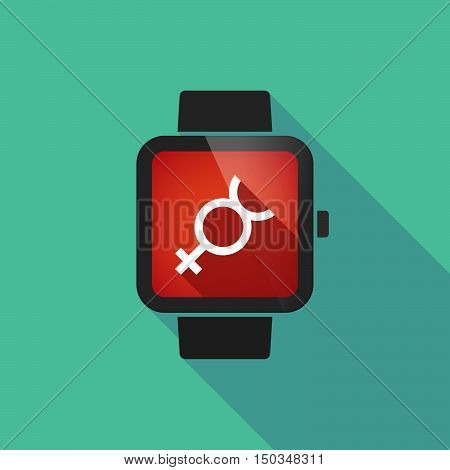 Long Shadow Smart Watch With  The Mercury Planet Symbol