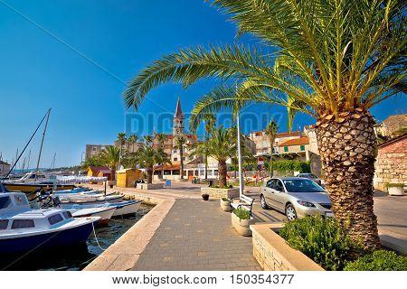 Town of Milna on Brac island waterfront view Dalmatia Croatia