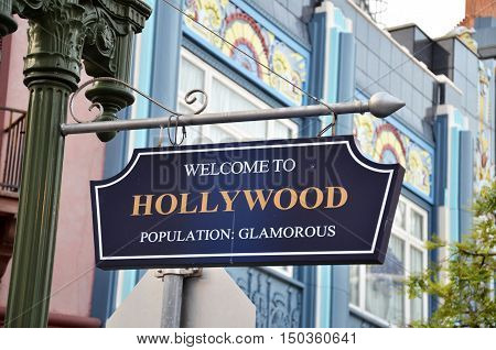 Welcome To Hollywood Road Sign