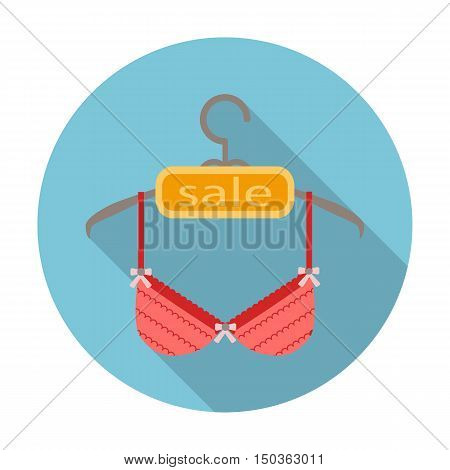 brassiere flat icon with long shadow for web design