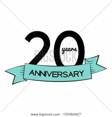 Template Logo 20 Years Anniversary Vector Illustration EPS10