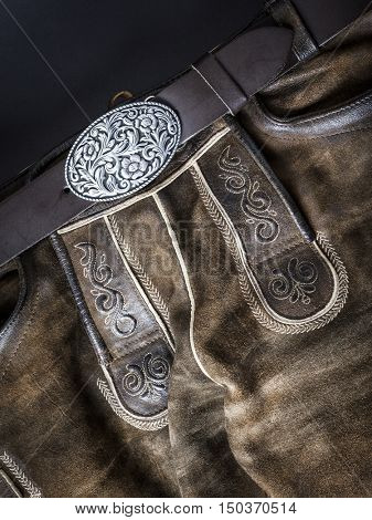 An image of a traditional bavarian leather trousers