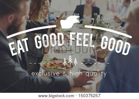 Eating Meeting Togetherness Diner Concept