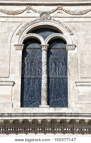 the ancient window of the building in Ostuni.