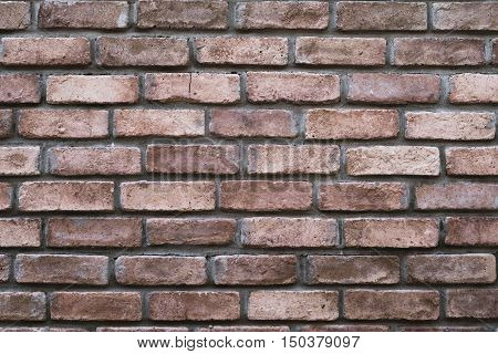 vintage texture of a brick surface of motley color for backgrounds or for wallpaper