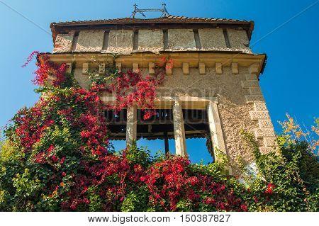 Old abandoned castle in Vinica arboretum near Varazdin, Croatia