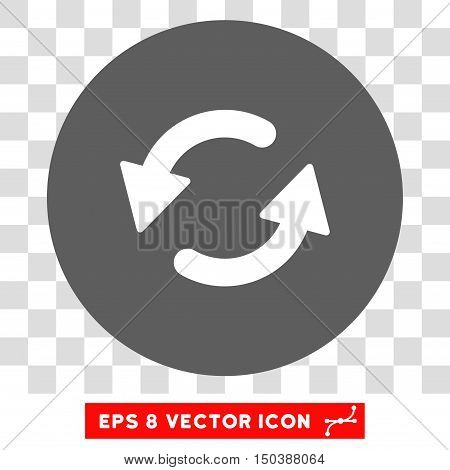 Refresh CCW round icon. Vector EPS illustration style is flat iconic bicolor symbol, white and silver colors, transparent background.