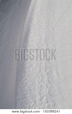 Little Snow Closeup .