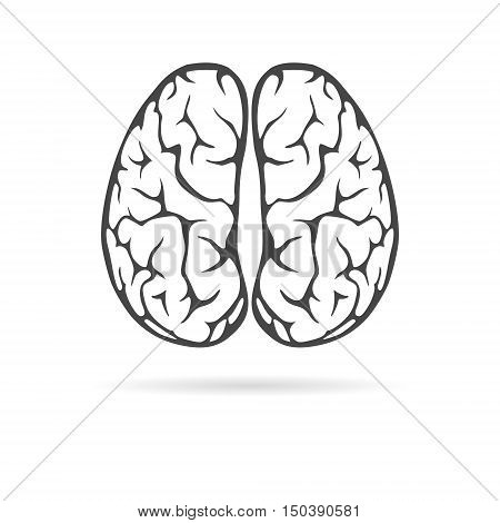 Brain icon, Brain Logo silhouette on white background