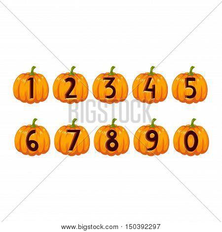 Spooky halloween font alphabet magical pumpkin set. Halloween font alphabet typography abc set spooky vegetable. Horror art graphic isolated grunge typography halloween font alphabet set.
