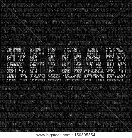 The programming white code with text reload on the dark background, easy to edit
