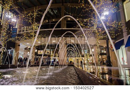 Fountain At The City Creek Shopping Center In Salt Lake City, Utah