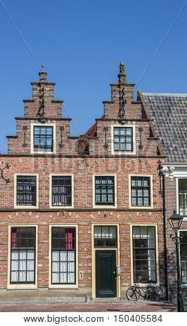 Historical Step Gables On Old Houses In Alkmaar