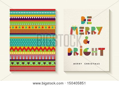 Merry Christmas Quote Design And Fun Background
