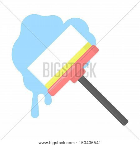 Squeegee cartoon icon. Illustration for web and mobile.
