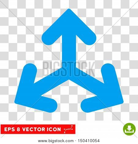 Direction Variants round icon. Vector EPS illustration style is flat iconic symbol, blue color, transparent background.