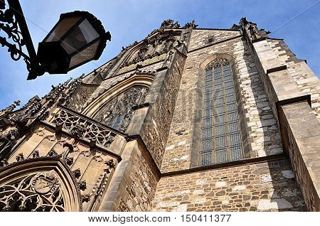 Old cathedral in the city of Brno, Moravia, Czech Republic, Europe